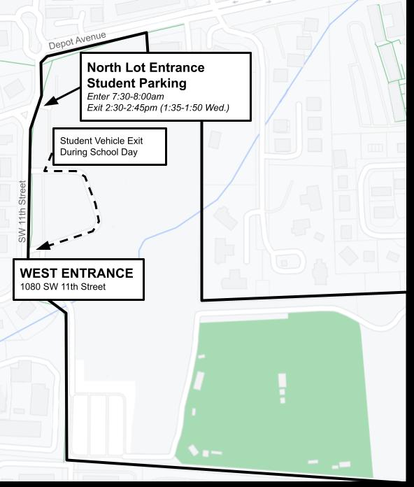 Map | P.K. Yonge Student Parking North Entrance