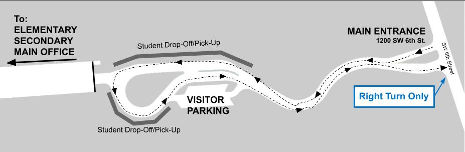 Map - P.K. Yonge Main Entrance
