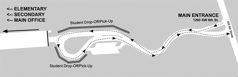 PK Yonge Main Entrance Map 10-21-2021