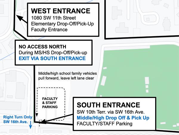 P.K. Yonge South Entrance Map
