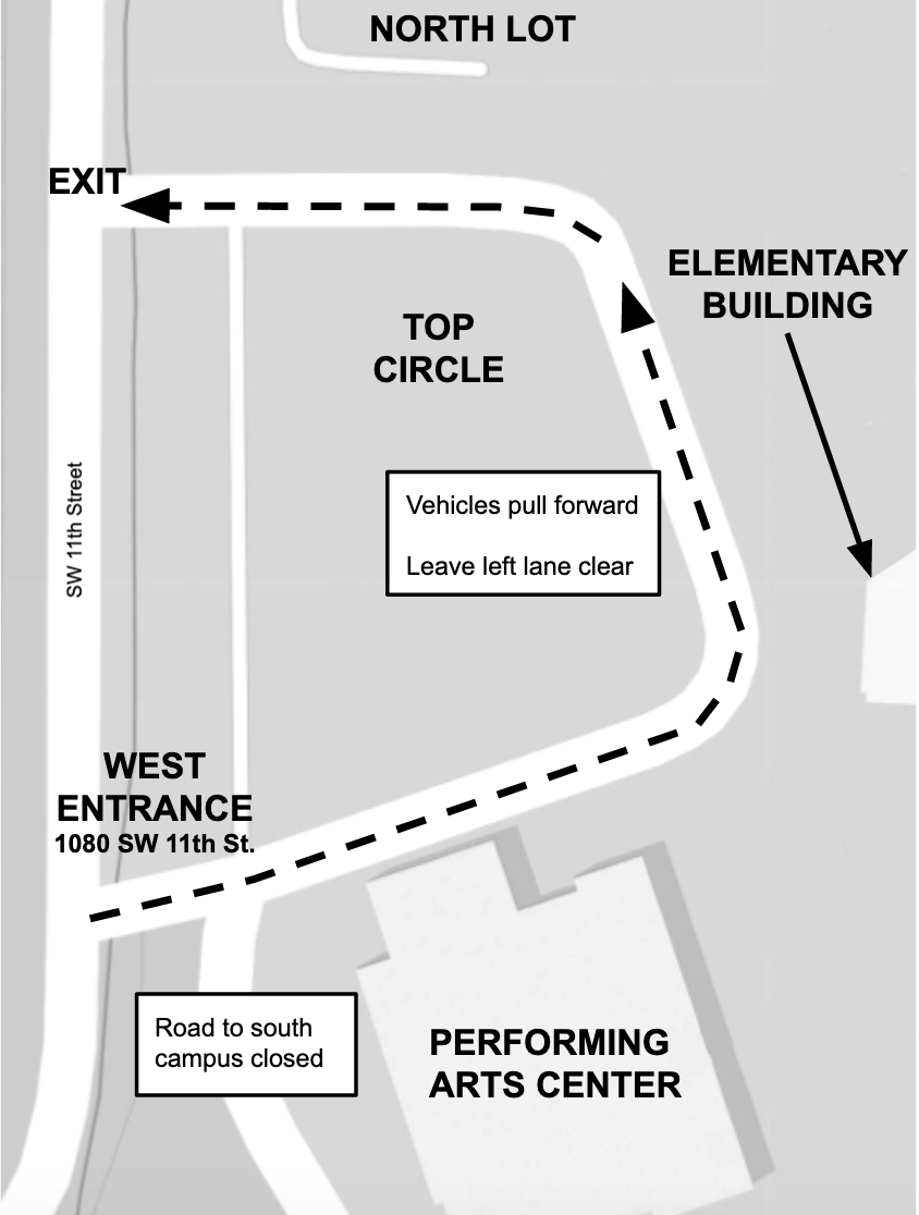 Elementery Drop off Pick up Map